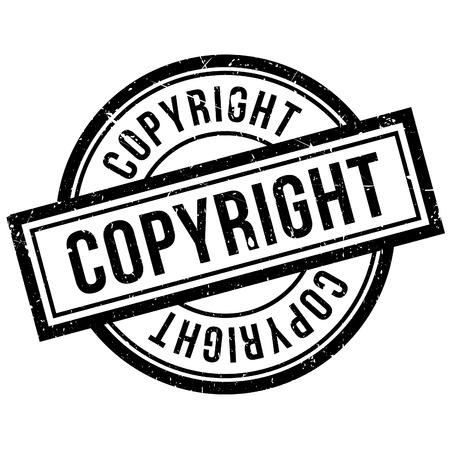 Sello de goma de los derechos de autor. Diseño de Grunge con los rasguños polvo. Los efectos se pueden quitar fácilmente para una apariencia limpia y nítida. En color se cambia fácilmente.