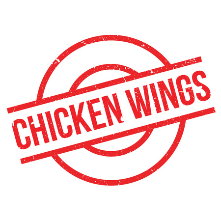 appetizers menu: Chicken Wings rubber stamp. Grunge design with dust scratches. Effects can be easily removed for a clean, crisp look. Color is easily changed.