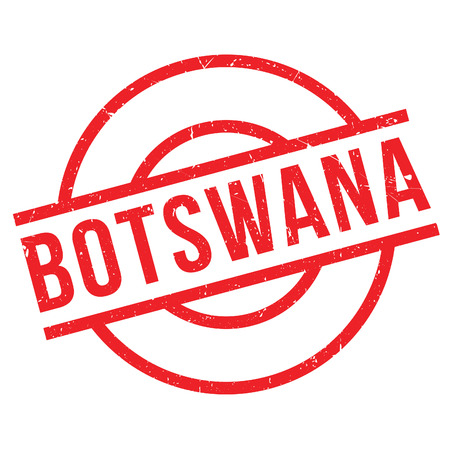 Botswana rubber stamp. Grunge design with dust scratches. Effects can be easily removed for a clean, crisp look. Color is easily changed. Illustration