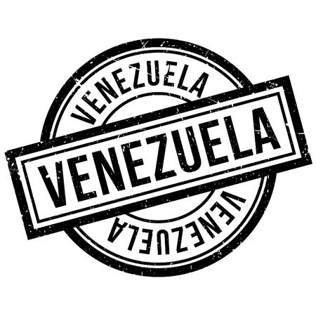 venezuela rubber stamp. Grunge design with dust scratches. Effects can be easily removed for a clean, crisp look. Color is easily changed.