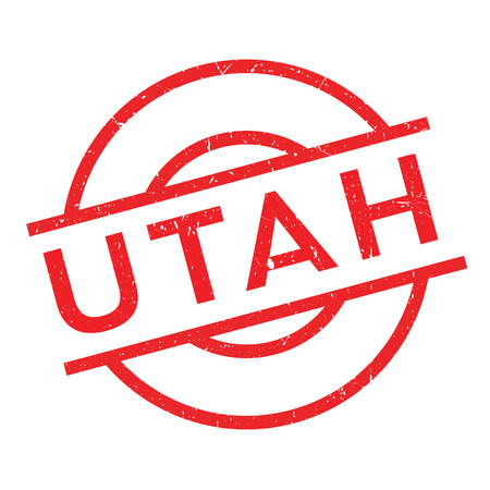 Utah rubber stamp. Grunge design with dust scratches. Effects can be easily removed for a clean, crisp look. Color is easily changed. Illustration