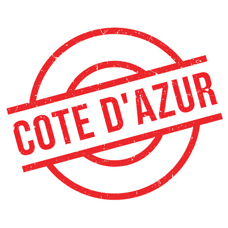 attraktion: Cote DAzur rubber stamp. Grunge design with dust scratches. Effects can be easily removed for a clean, crisp look. Color is easily changed. Illustration