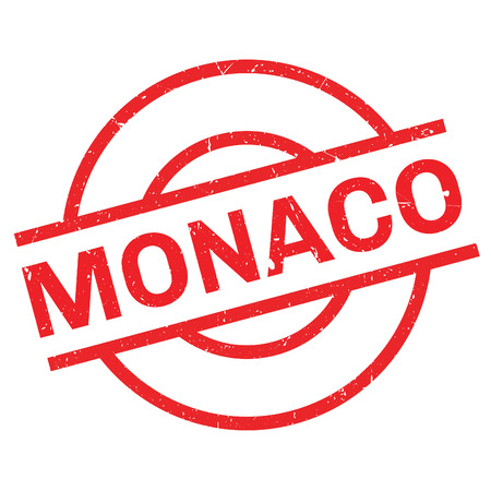 Monaco rubber stamp. Grunge design with dust scratches. Effects can be easily removed for a clean, crisp look. Color is easily changed. Illustration