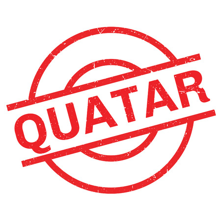 Quatar rubber stamp. Grunge design with dust scratches. Effects can be easily removed for a clean, crisp look. Color is easily changed. Illustration