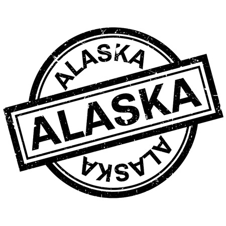 Alaska rubber stamp. Grunge design with dust scratches. Effects can be easily removed for a clean, crisp look. Color is easily changed. Illustration