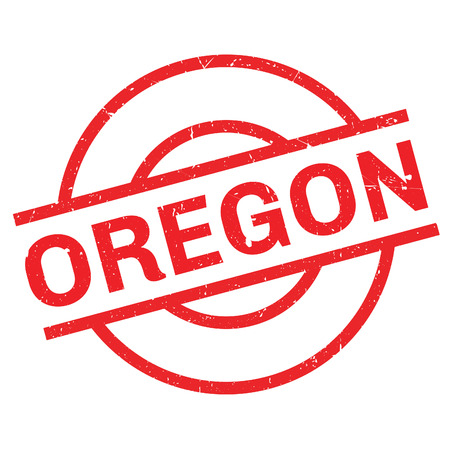 Oregon rubber stamp. Grunge design with dust scratches. Effects can be easily removed for a clean, crisp look. Color is easily changed.