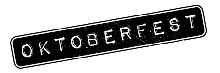 oktober: Oktoberfest rubber stamp. Grunge design with dust scratches. Effects can be easily removed for a clean, crisp look. Color is easily changed. Illustration