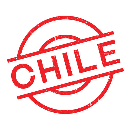 Chile rubber stamp. Grunge design with dust scratches. Effects can be easily removed for a clean, crisp look. Color is easily changed.