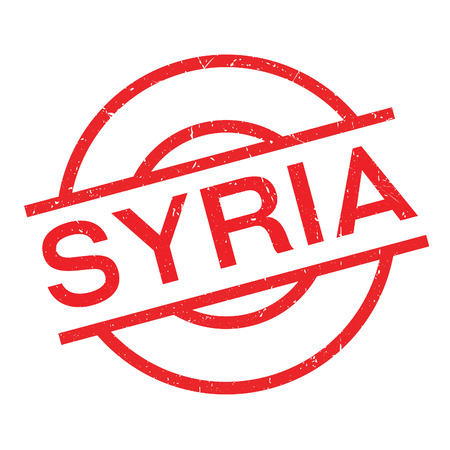 Syria rubber stamp. Grunge design with dust scratches. Effects can be easily removed for a clean, crisp look. Color is easily changed. Illustration