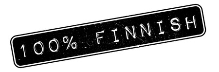 finnish: 100 percent Finnish rubber stamp. Grunge design with dust scratches. Effects can be easily removed for a clean, crisp look. Color is easily changed.