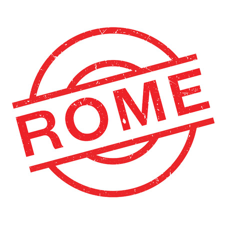 Rome rubber stamp. Grunge design with dust scratches. Effects can be easily removed for a clean, crisp look. Color is easily changed. Illustration
