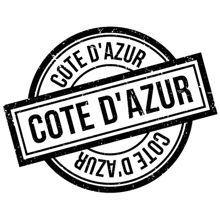 Cote DAzur rubber stamp. Grunge design with dust scratches. Effects can be easily removed for a clean, crisp look. Color is easily changed. Illustration