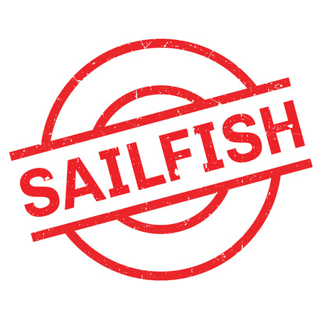 sailfish: Sailfish rubber stamp. Grunge design with dust scratches. Effects can be easily removed for a clean, crisp look. Color is easily changed.