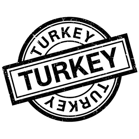 imprinted: Turkey rubber stamp. Grunge design with dust scratches. Effects can be easily removed for a clean, crisp look. Color is easily changed.
