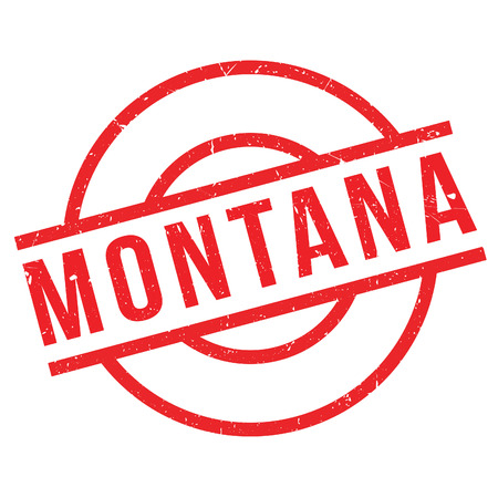 Montana rubber stamp. Grunge design with dust scratches. Effects can be easily removed for a clean, crisp look. Color is easily changed.