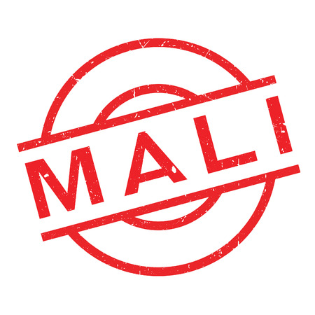 Mali rubber stamp. Grunge design with dust scratches. Effects can be easily removed for a clean, crisp look. Color is easily changed.