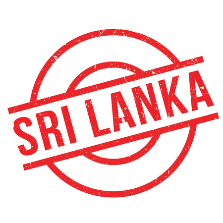 indochina peninsula: Sri Lanka rubber stamp. Grunge design with dust scratches. Effects can be easily removed for a clean, crisp look. Color is easily changed.