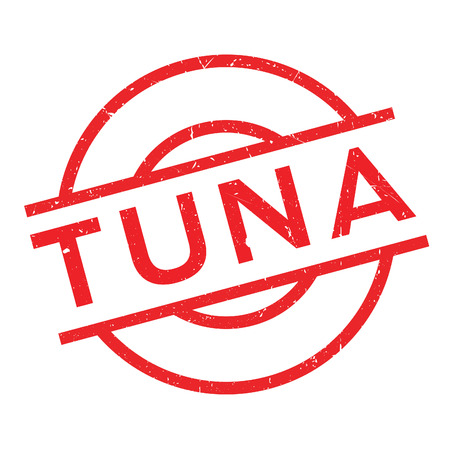 Tuna rubber stamp. Grunge design with dust scratches. Effects can be easily removed for a clean, crisp look. Color is easily changed. Illustration