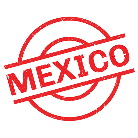 Mexico rubber stamp. Grunge design with dust scratches. Effects can be easily removed for a clean, crisp look. Color is easily changed.