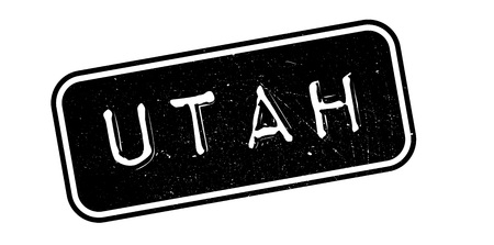 imprinted: Utah rubber stamp. Grunge design with dust scratches. Effects can be easily removed for a clean, crisp look. Color is easily changed. Illustration