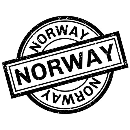 imprinted: Norway rubber stamp. Grunge design with dust scratches. Effects can be easily removed for a clean, crisp look. Color is easily changed. Illustration