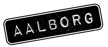 Aalborg rubber stamp. Grunge design with dust scratches. Effects can be easily removed for a clean, crisp look. Color is easily changed.
