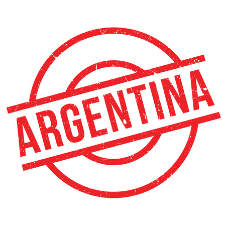 Argentina rubber stamp. Grunge design with dust scratches. Effects can be easily removed for a clean, crisp look. Color is easily changed.