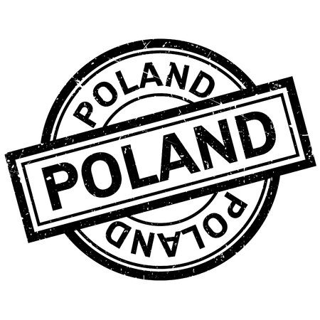imprinted: Poland rubber stamp. Grunge design with dust scratches. Effects can be easily removed for a clean, crisp look. Color is easily changed.