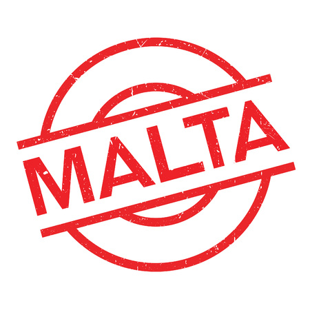 Malta rubber stamp. Grunge design with dust scratches. Effects can be easily removed for a clean, crisp look. Color is easily changed.