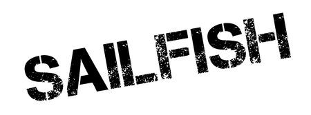 sailfish: Sello de goma de pez vela. Diseño de Grunge con los rasguños polvo. Los efectos se pueden quitar fácilmente para una apariencia limpia y nítida. En color se cambia fácilmente.