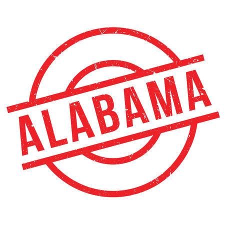 imprinted: Alabama rubber stamp. Grunge design with dust scratches. Effects can be easily removed for a clean, crisp look. Color is easily changed.
