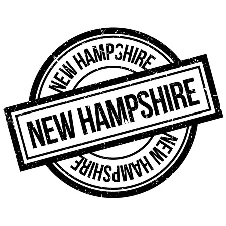 imprinted: New Hampshire rubber stamp. Grunge design with dust scratches. Effects can be easily removed for a clean, crisp look. Color is easily changed.