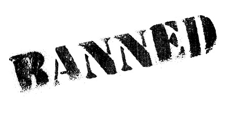 enact: Banned rubber stamp. Grunge design with dust scratches. Effects can be easily removed for a clean, crisp look. Color is easily changed.