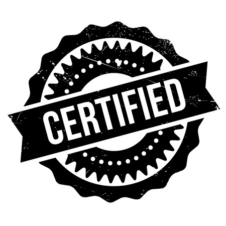 Certified stamp. Grunge design with dust scratches. Effects can be easily removed for a clean, crisp look. Color is easily changed.