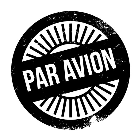 par avion: Par avion stamp. Grunge design with dust scratches. Effects can be easily removed for a clean, crisp look. Color is easily changed.