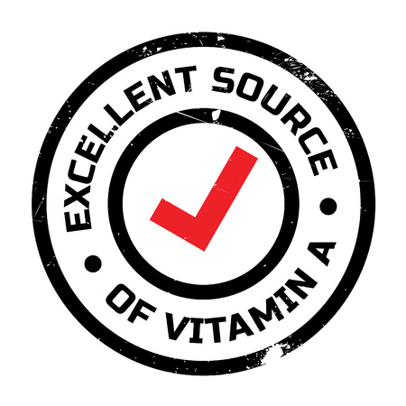 advertize: Excellent source of vitamin A stamp. Grunge design with dust scratches. Effects can be easily removed for a clean, crisp look. Color is easily changed.