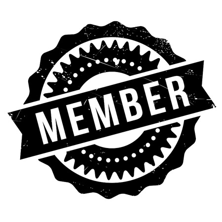 Member stamp. Grunge design with dust scratches. Effects can be easily removed for a clean, crisp look. Color is easily changed. Illustration