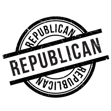 populist: Republican stamp. Grunge design with dust scratches. Effects can be easily removed for a clean, crisp look. Color is easily changed.