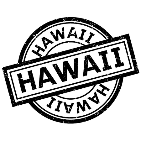 imprinted: Hawaii rubber stamp. Grunge design with dust scratches. Effects can be easily removed for a clean, crisp look. Color is easily changed.