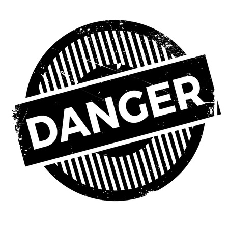 unsure: Danger rubber stamp. Grunge design with dust scratches. Effects can be easily removed for a clean, crisp look. Color is easily changed.