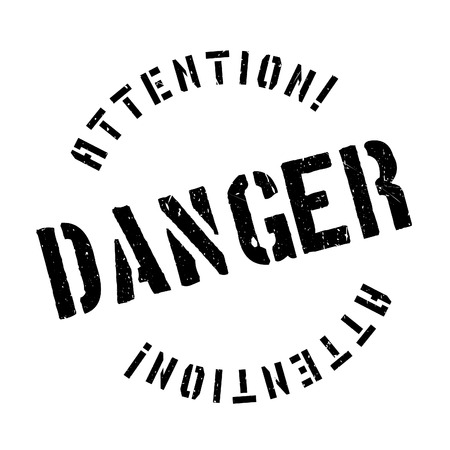 vulnerability: Danger rubber stamp. Grunge design with dust scratches. Effects can be easily removed for a clean, crisp look. Color is easily changed.