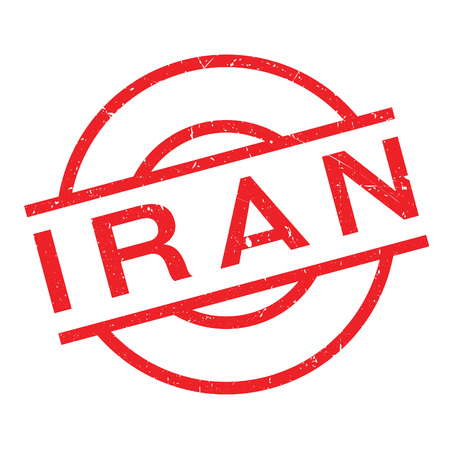 Iran rubber stamp. Grunge design with dust scratches. Effects can be easily removed for a clean, crisp look. Color is easily changed.
