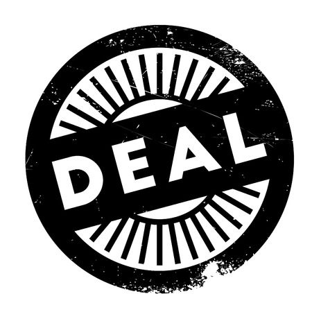 compromise: Deal stamp. Grunge design with dust scratches. Effects can be easily removed for a clean, crisp look. Color is easily changed.