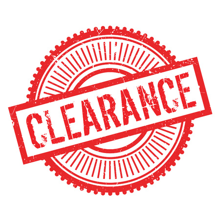 Clearance stamp. Grunge design with dust scratches. Effects can be easily removed for a clean, crisp look. Color is easily changed. Illustration