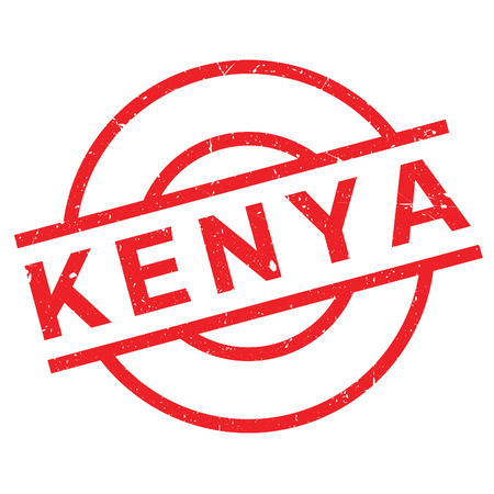 Kenya rubber stamp. Grunge design with dust scratches. Effects can be easily removed for a clean, crisp look. Color is easily changed.