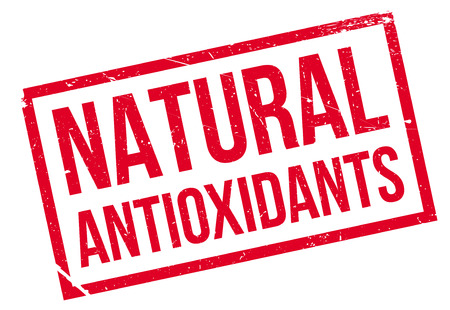 antioxidants: Natural antioxidants stamp. Grunge design with dust scratches. Effects can be easily removed for a clean, crisp look. Color is easily changed.