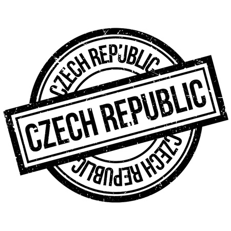 imprinted: Czech Republic rubber stamp. Grunge design with dust scratches. Effects can be easily removed for a clean, crisp look. Color is easily changed.