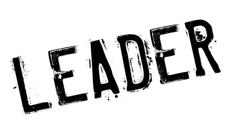Leader stamp. Grunge design with dust scratches. Effects can be easily removed for a clean, crisp look. Color is easily changed.