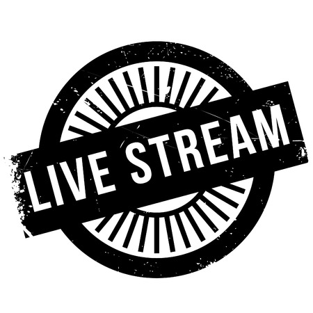 viable: Live stream stamp. Grunge design with dust scratches. Effects can be easily removed for a clean, crisp look. Color is easily changed. Illustration