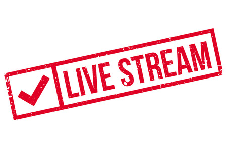 existent: Live stream stamp. Grunge design with dust scratches. Effects can be easily removed for a clean, crisp look. Color is easily changed. Illustration